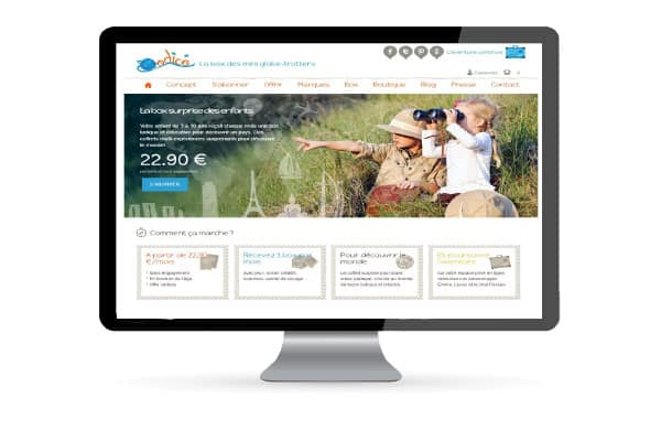 exemple creation site box abonnement